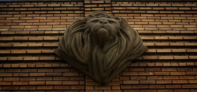 Lion Head Sign