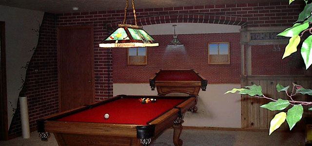 Pool Table Mural